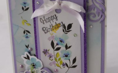 Couture Creations Le Petit Jardin Birthday Card