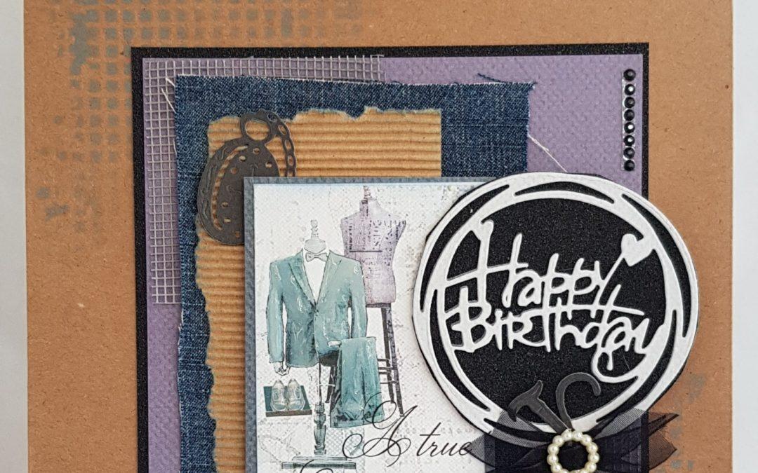 FabScraps C112 All Men Happy Birthday Gift Bag