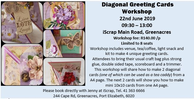 Workshop: Diagonal Greeting Cards – 22nd June 2019