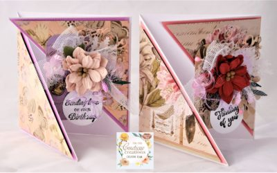 Couture Creations Butterfly Garden Mini Diagonal Greeting Cards