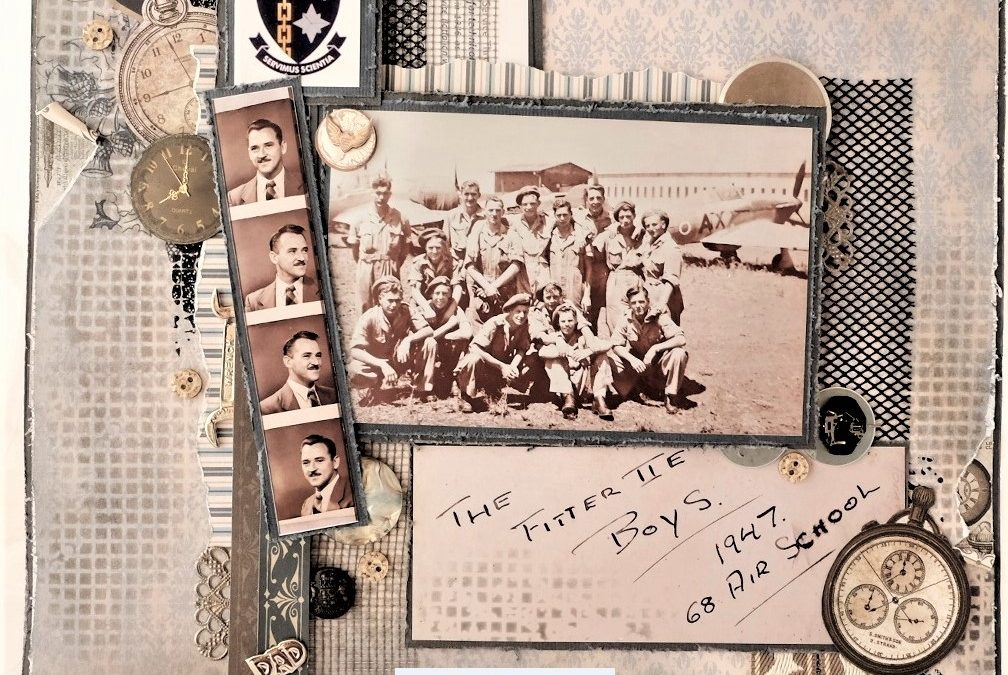 "Couture Creations ""The Fitter Boys"" scrapbooking layout"