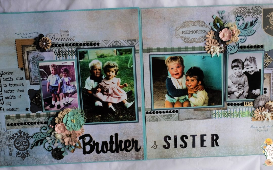 Couture Creations Gentleman's Emporium Scrapbook layout