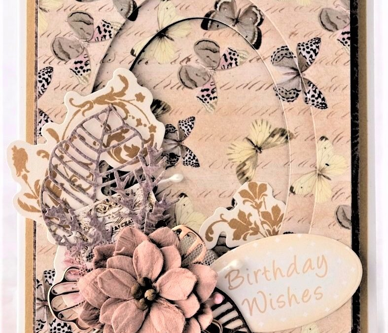 Couture Creations Butterfly Garden Telescopic Card