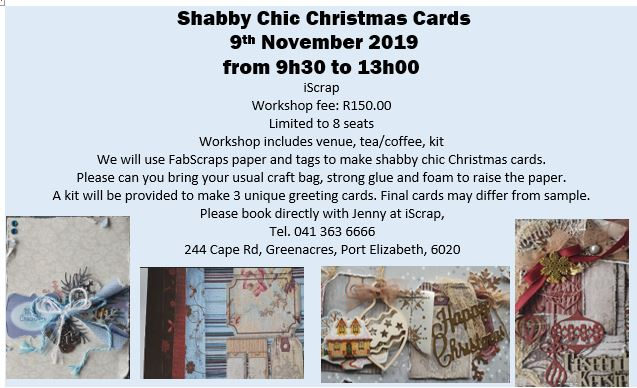 Shabby Chic Christmas Cards 9th Nov 2019