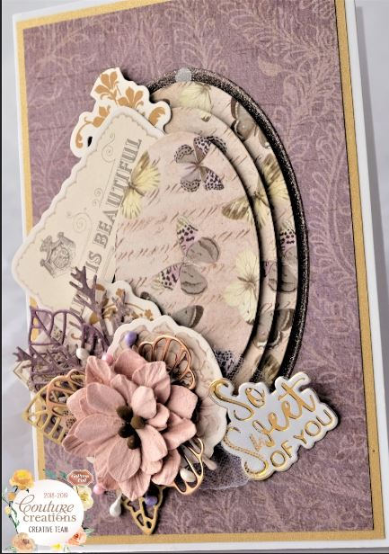 Couture Creations raised telescopic card