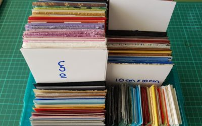 Tip: Storage – Cutting and storing paper pieces