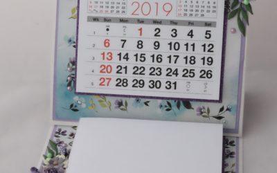 Couture Creations Le Petit Jardin Calendar Easel Card