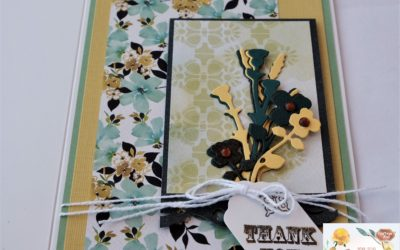 Couture Creations le Petit Jardin Thank you card