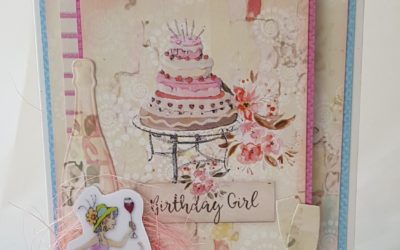FabScraps C113 Book Club Cheers Happy Birthday Card