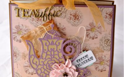 Couture Creations Butterfly Garden Tea Caddy Card